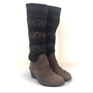 Ugg Cresthaven Wedge Sweater-Knit Boot